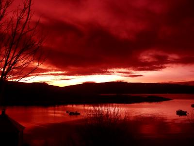 Rød himmel i Frovåg
